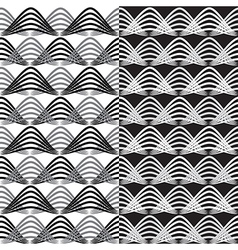 Abstract seamless patterns background set vector