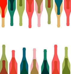 Background glass of alcohol vector