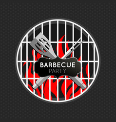 Barbecue party logo icon design template vector