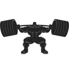 Bodybuilder with a barbell vector image vector image