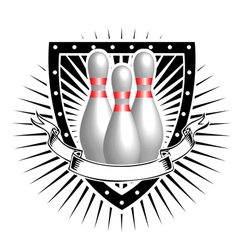 bowling shield vector image vector image