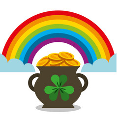 Cauldron full gol coins rainbow magic vector