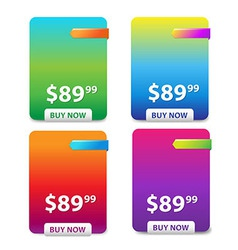 Color Price Table vector image vector image