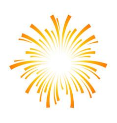 Exploding fireworks logo icon vector