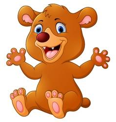 Funny bear cartoon vector