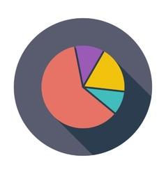 Graph single flat icon vector image vector image