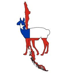 Guanaco Chile vector image vector image