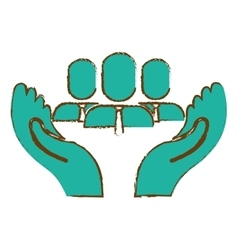 Hands and people icon vector
