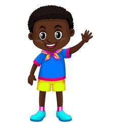 Happy boy from zimbabwe vector