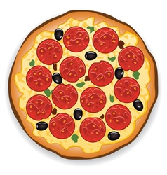 italian pizza vector image