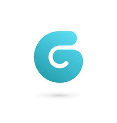 Letter G number 6 logo icon design template vector image vector image