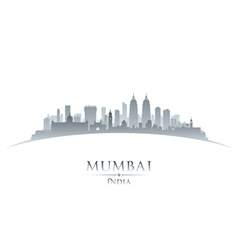 Mumbai India city skyline silhouette vector image