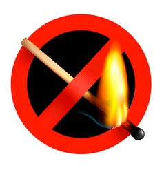 no matchstick fire sign vector image vector image