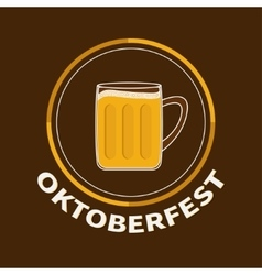 Oktoberfest Beer glass mug with foam cap froth vector image vector image