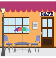 outside cafe shop vector image vector image