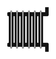 Radiator black simple icon vector image