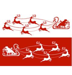 santa claus and his deers vector image