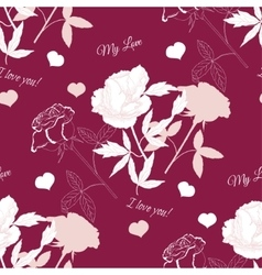 Seamless pattern with rose14 vector image vector image