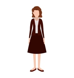 Silhouette executive woman with short hair vector