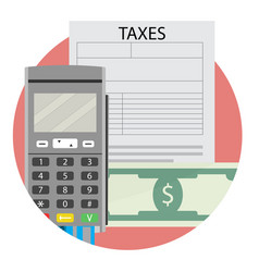 taxation icon app flat vector image vector image