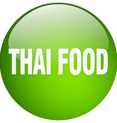 Thai food green round gel isolated push button vector