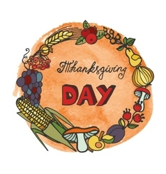 Thanksgiving daydoodle harvest wreathwatercolor vector
