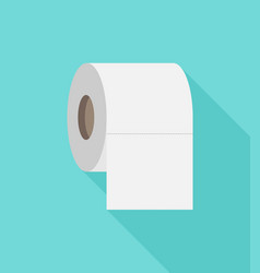 Toilet paper flat icon modern flat icon vector