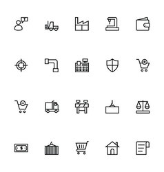 Trade outline icons 4 vector