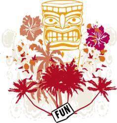 tribal fun vector image