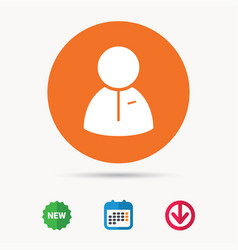 user icon human person sign vector image