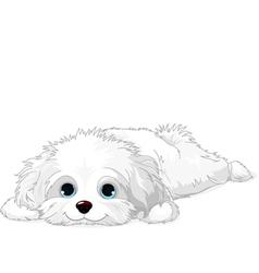 White puppy vector