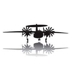 Awacs aircraft silhouette vector image