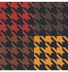 Houndstooth pattern vector