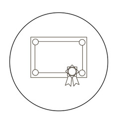 Diploma icon outline single education icon from vector