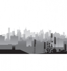 City silhouette vector