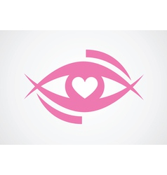 eye with heart vector image