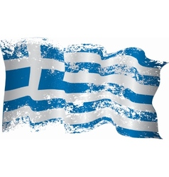 Greece flag grunge vector