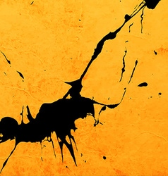 Bright Yellow Paint Splash Background vector image