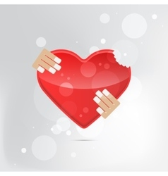 A heart health concept - red heart vector image