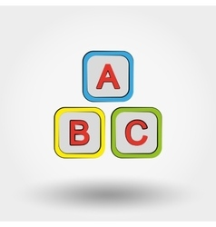 Cubes with letters abc vector