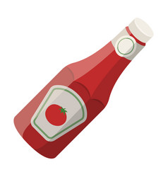 a bottle of ketchupbbq single icon in cartoon vector image