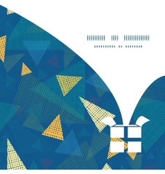 Abstract fabric triangles christmas gift box vector