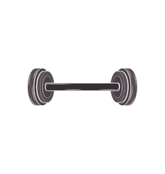 black silhouette dumbbell for training in gym vector image vector image
