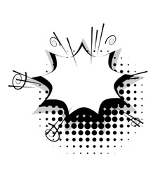 Blank template comic speech star bubble vector image