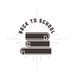 Books icon Back to school design graphic vector image