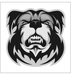 Bulldog Mascot Cartoon Face vector image vector image
