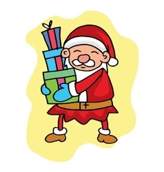 Character Santa and gift collection stock vector image