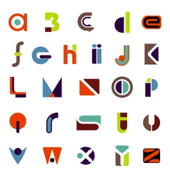 Complete icon alphabet vector