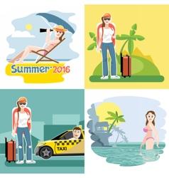 Digital touristic summer vacation vector