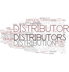 Distributors word cloud concept vector